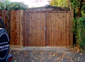 Photograph of a Wooden Fence and Gates